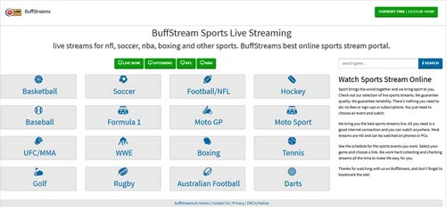 Buffstreams LIVE STREAMS